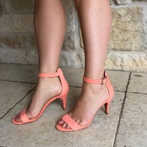 Gianni Bini coral kitten heel with ankle strap